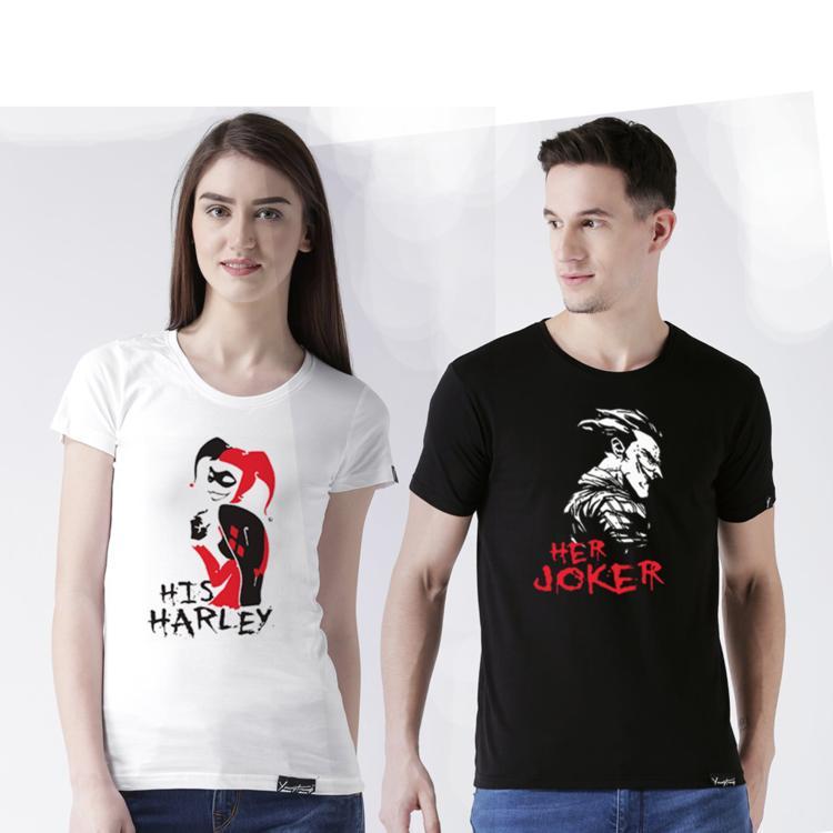 59cc5f58 Her Joker, His Harley | Couple Tshirt - T-Shirt | Seto Canvas